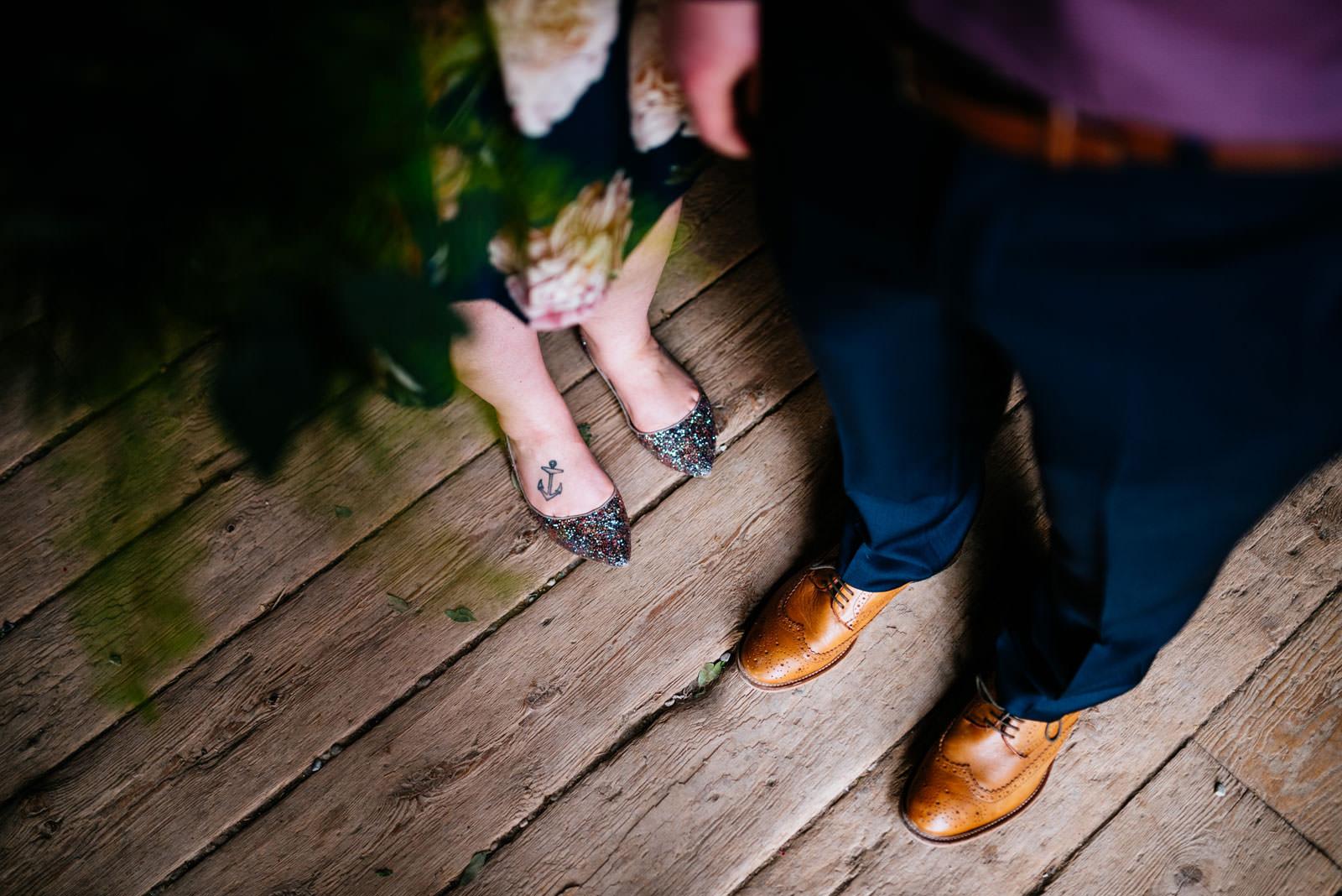 wedding details bride groom shoes
