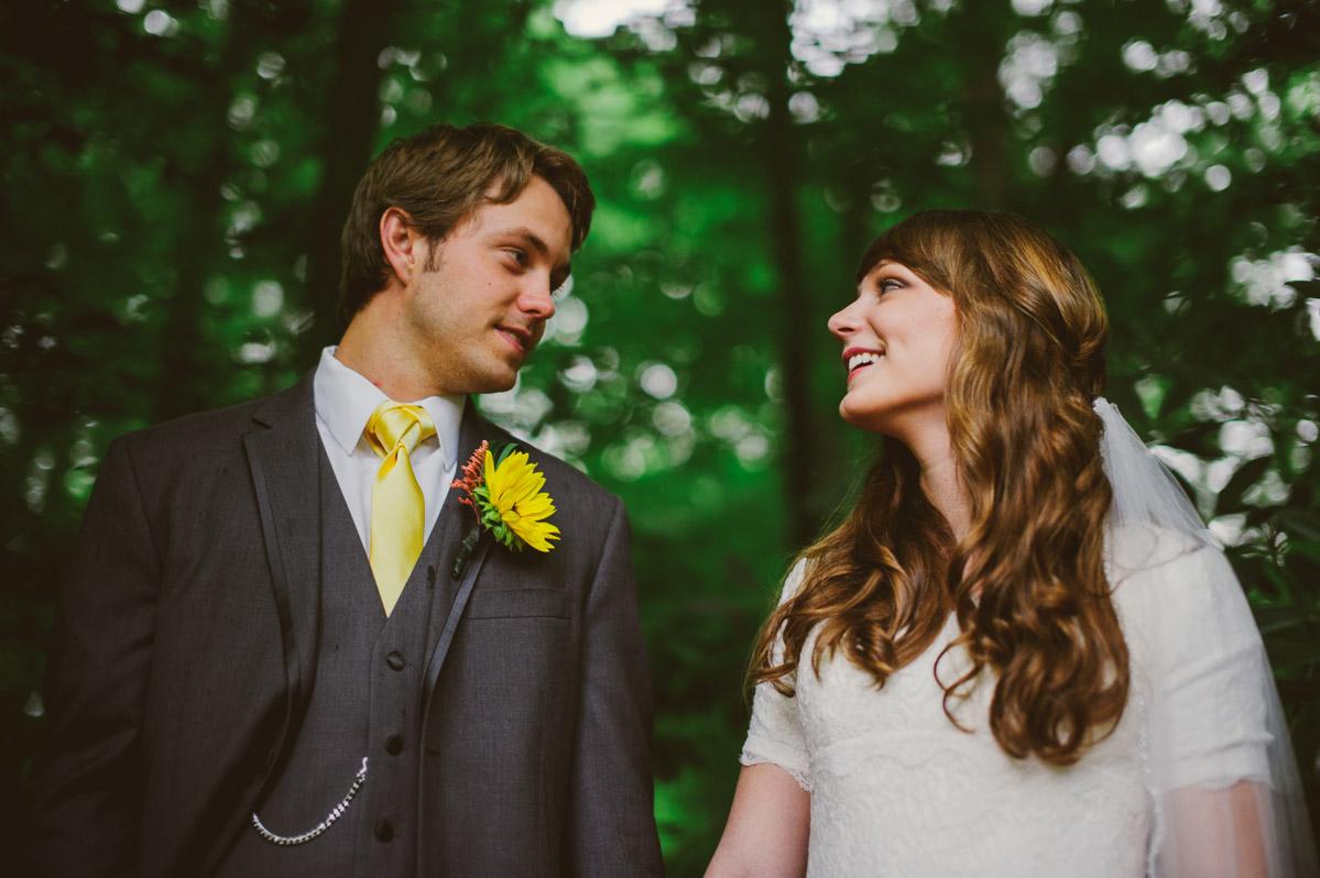 west virginia backyard wedding portraits