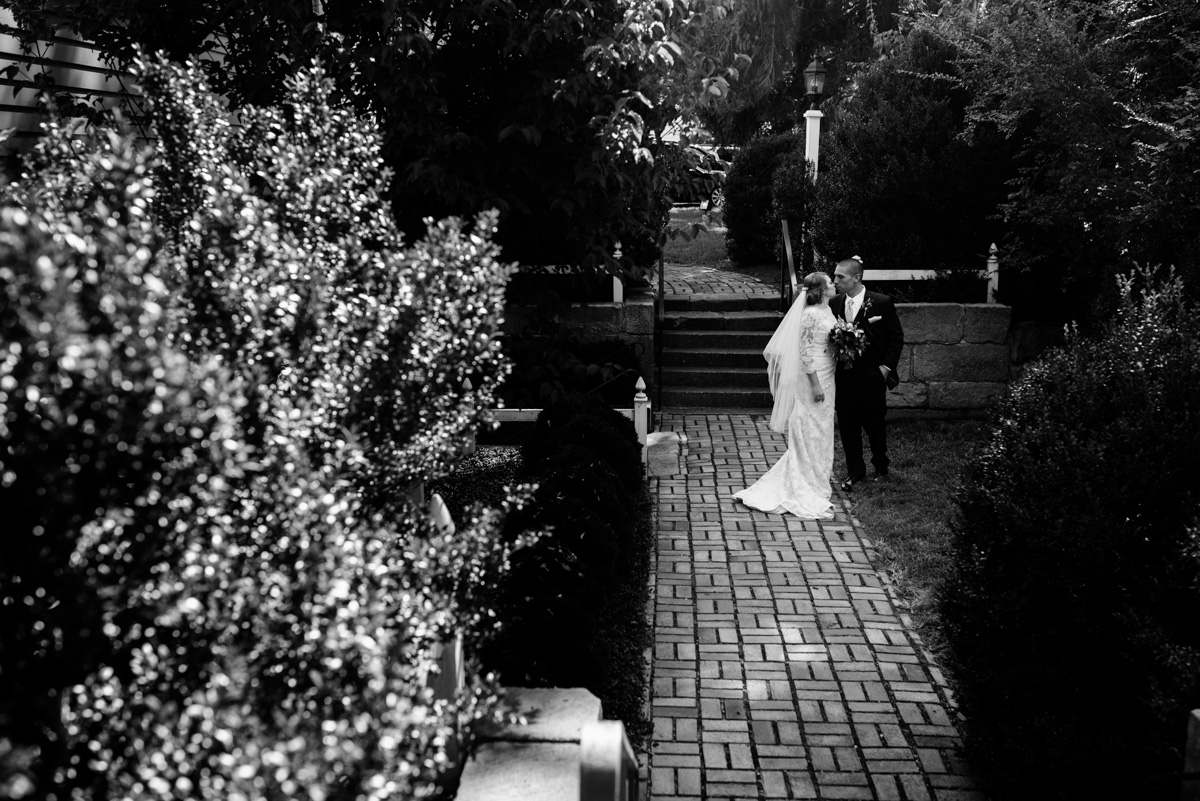 bride and groom after craik-patton house wedding ceremony