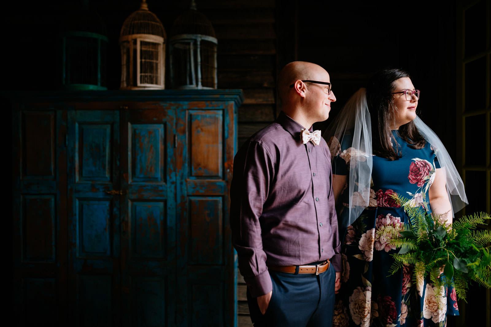bride groom portraits terrain elopement