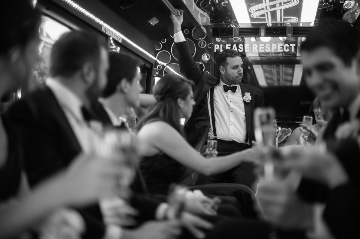groom in party bus