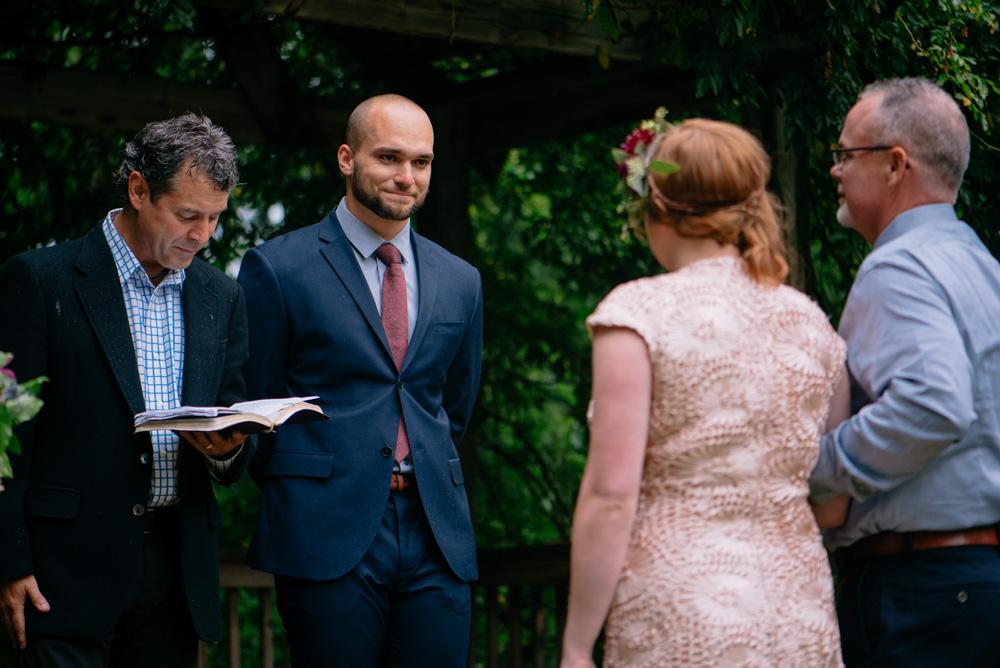 happy crying groom wedding candid photography