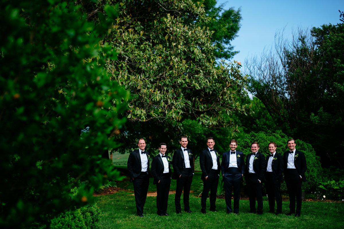 pharsalia virginia wedding groomsmen portrait