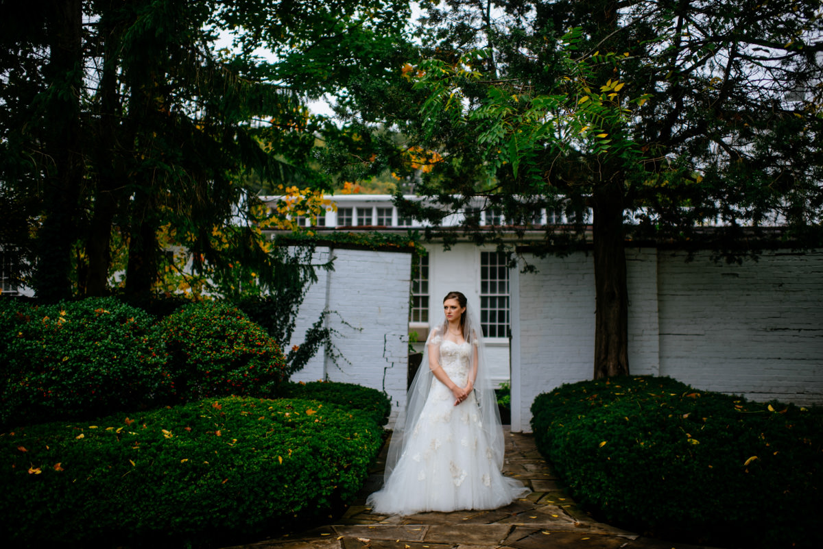 secret garden bridal portrait at the greenbrier