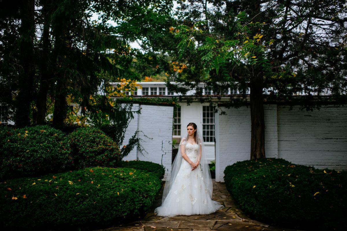 secret garden bridal portrait at the greenbrier