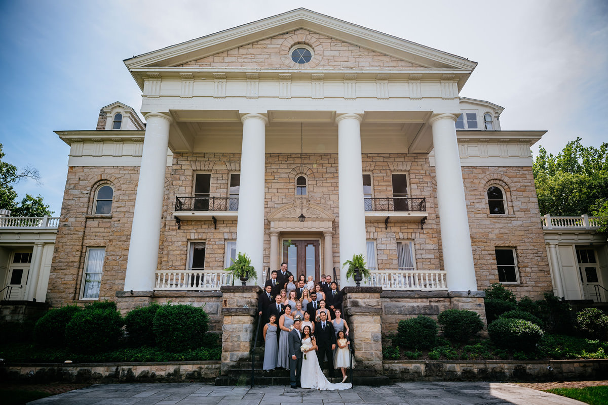 sunrise museum wedding party photos charleston west virginia