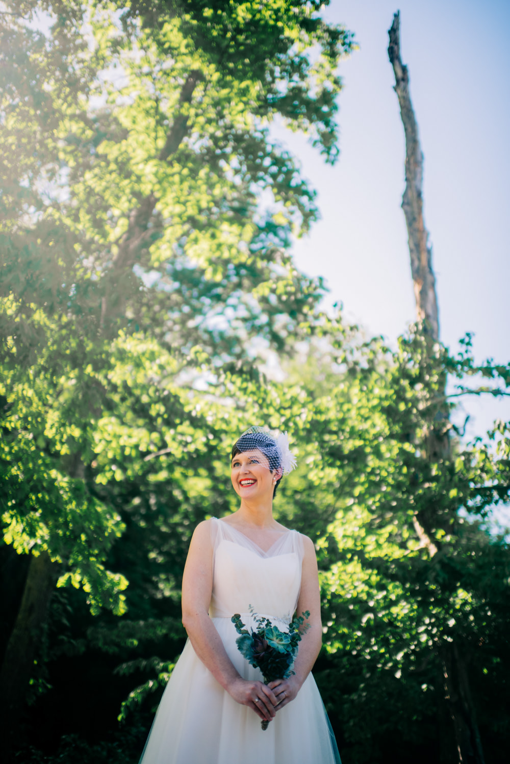 bridal portrait at camp muffly