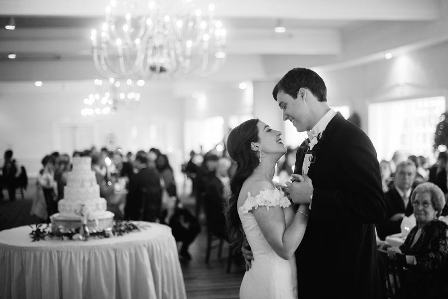 bride and groom first dance at summit inn farmington pa