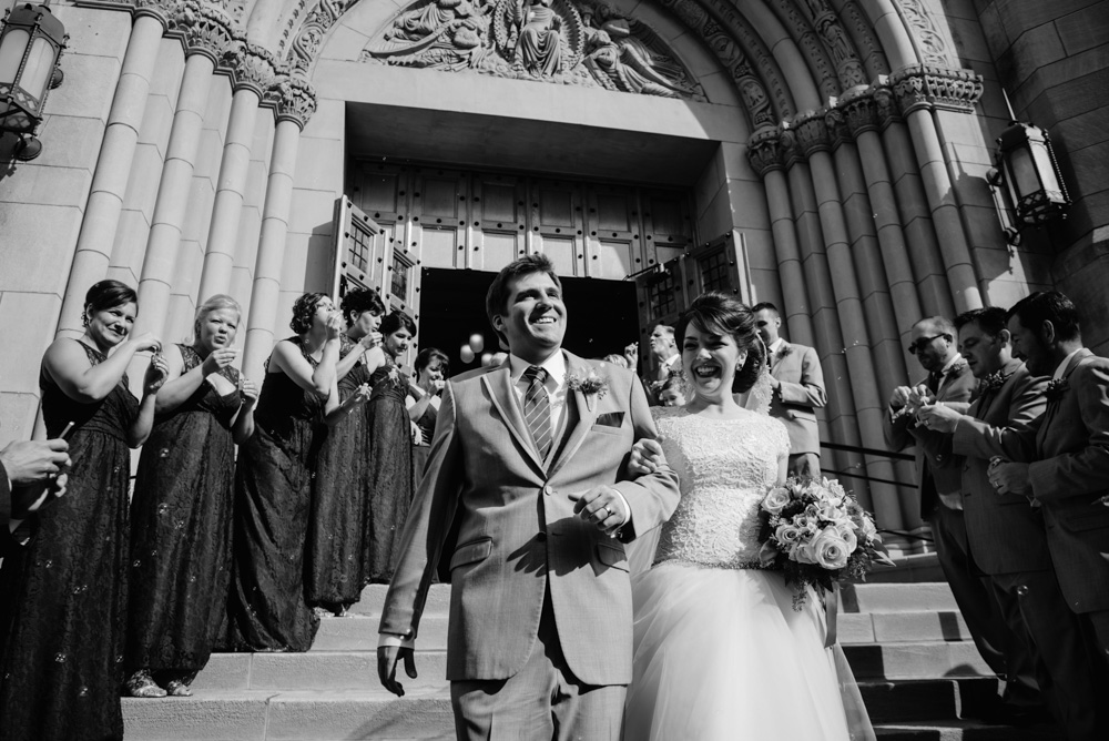 bride groom just married leaving church wedding photojournalism by the oberports