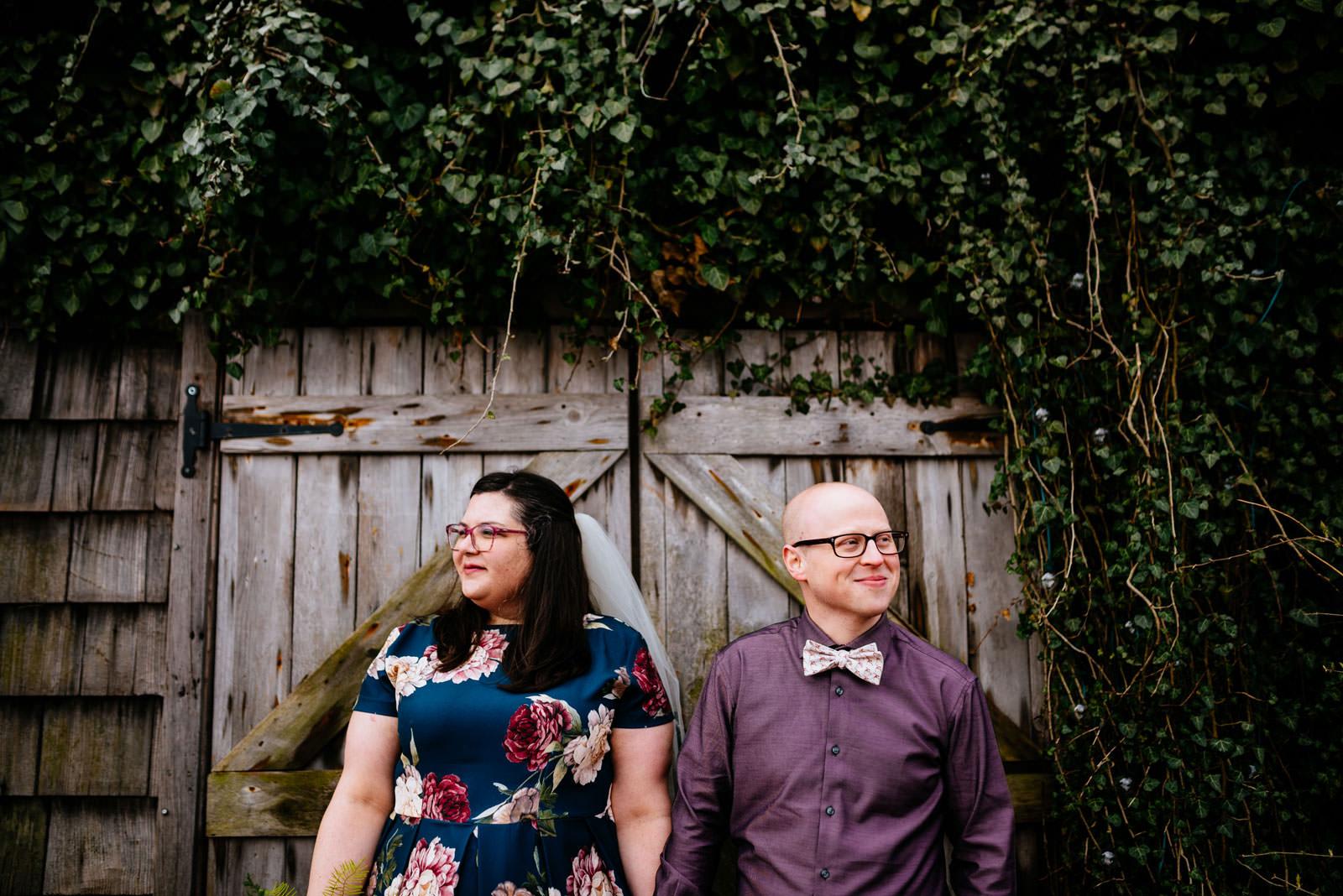 bride groom wedding pictures terrain elopement