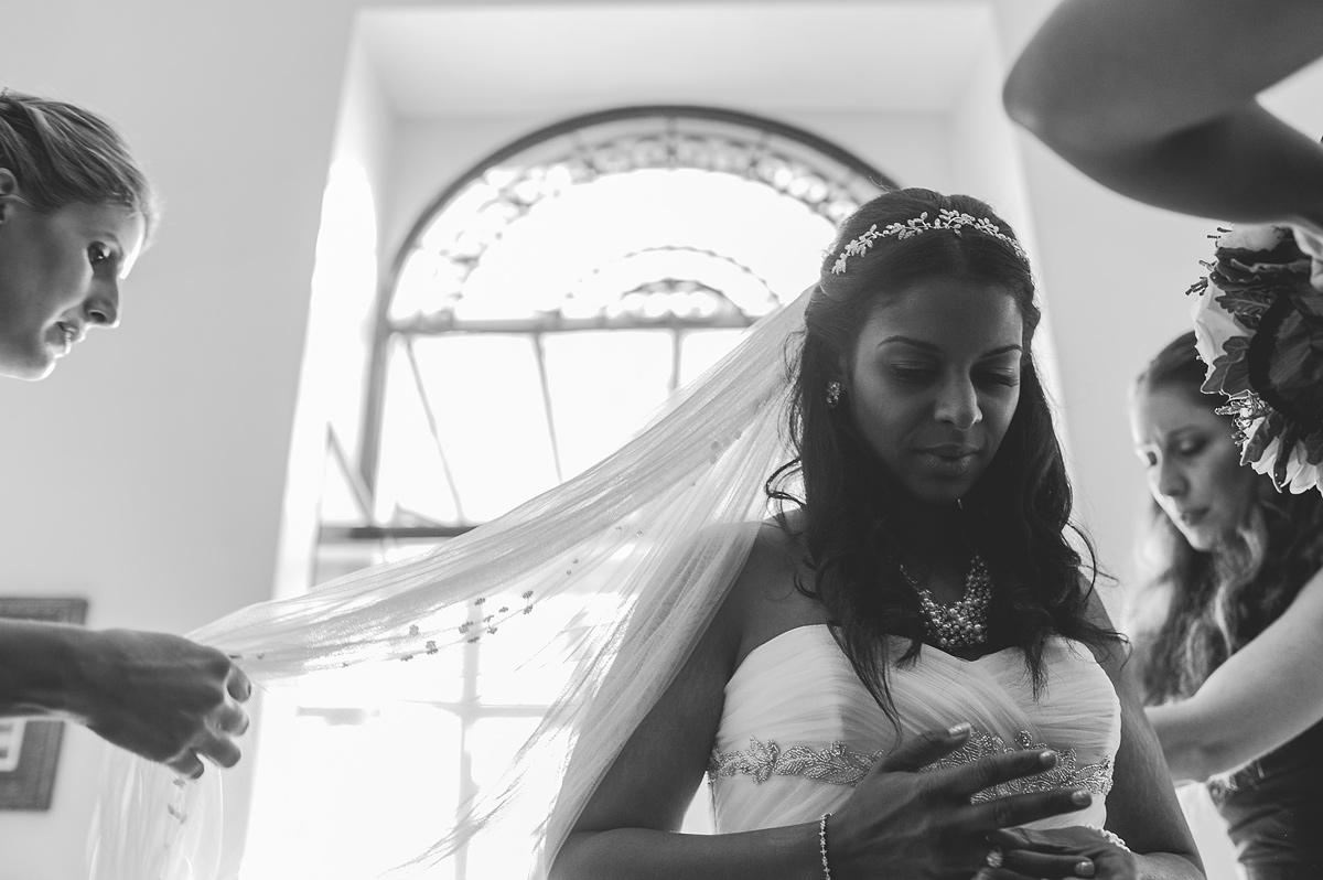 destination wedding photography rieti italy bridesmaids fluff veil