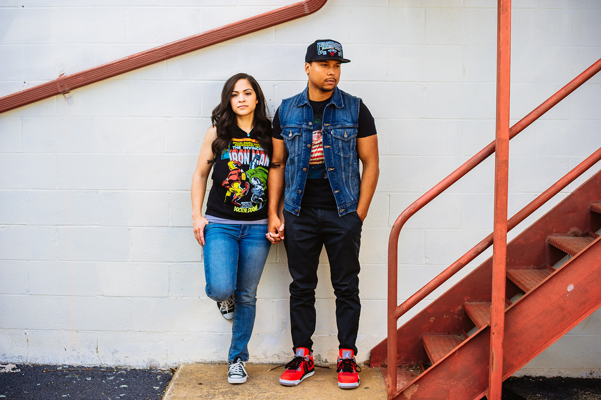badass engagement session outfits