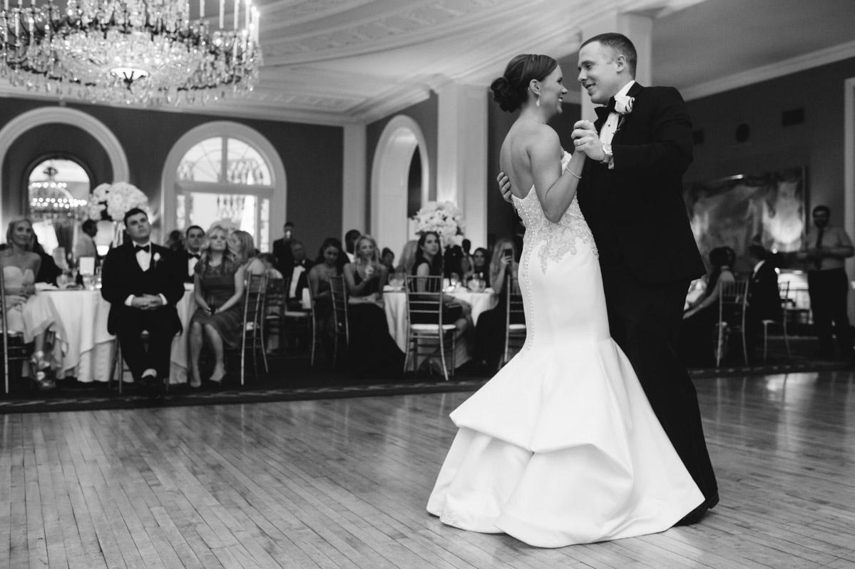 bride groom first dance in cameo ballroom greenbrier resort wv west virginia