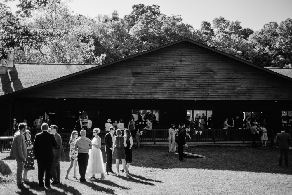 camp muffly dining hall wedding reception
