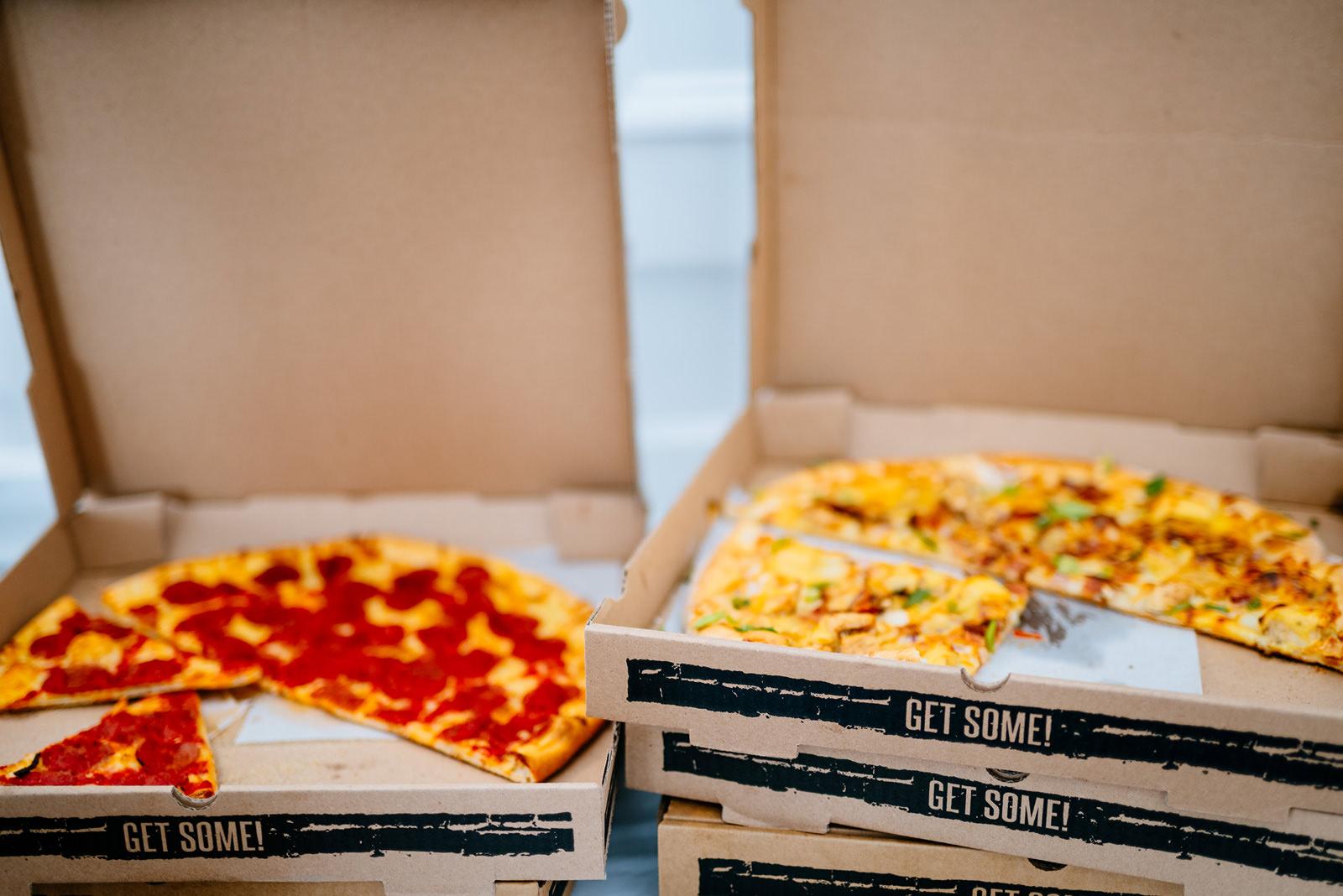 pizza party wedding reception