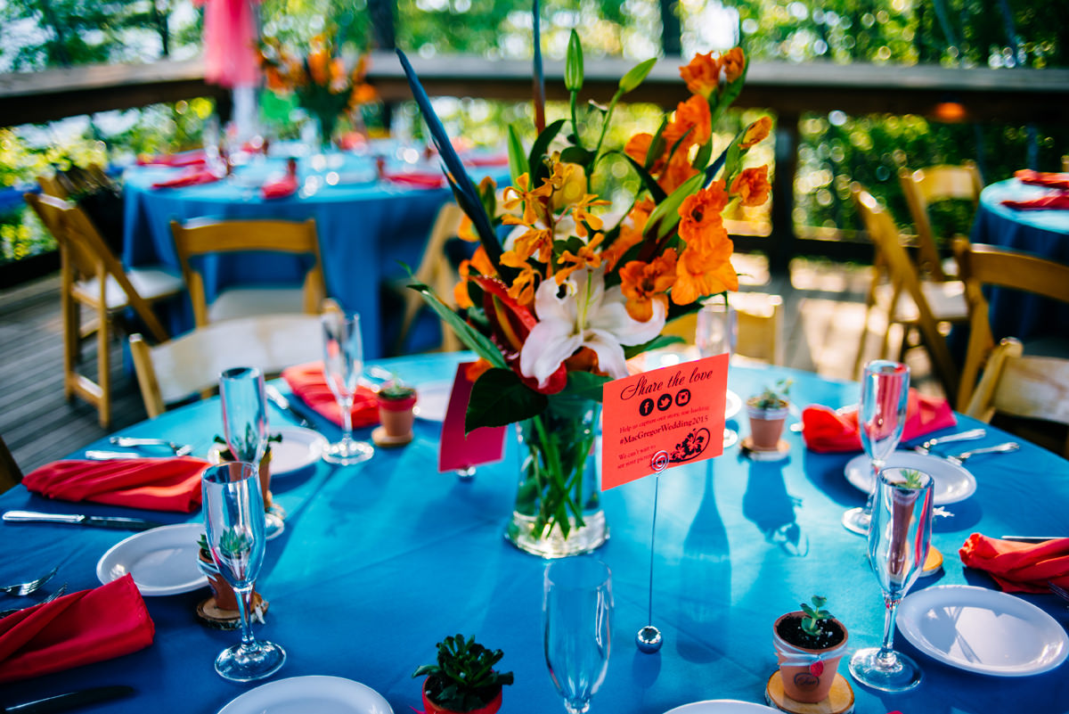 adventures on the gorge tropical pool party wedding