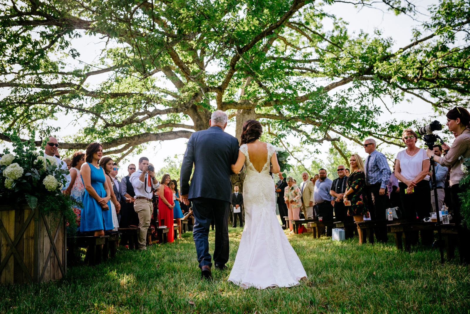 bride and dad wedding processional