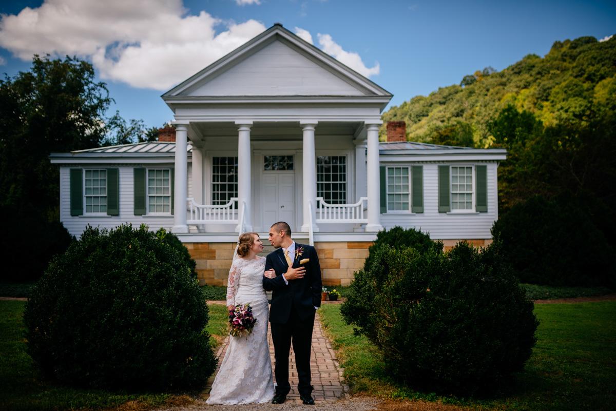 bride groom portrait craik patton house wedding charleston west virginia