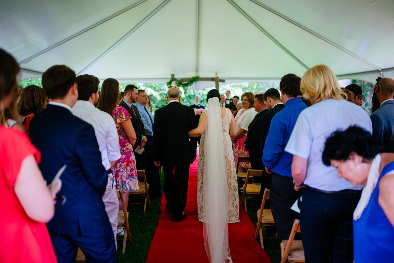 bride walking down aisle moments holly hill inn wedding lexington ky