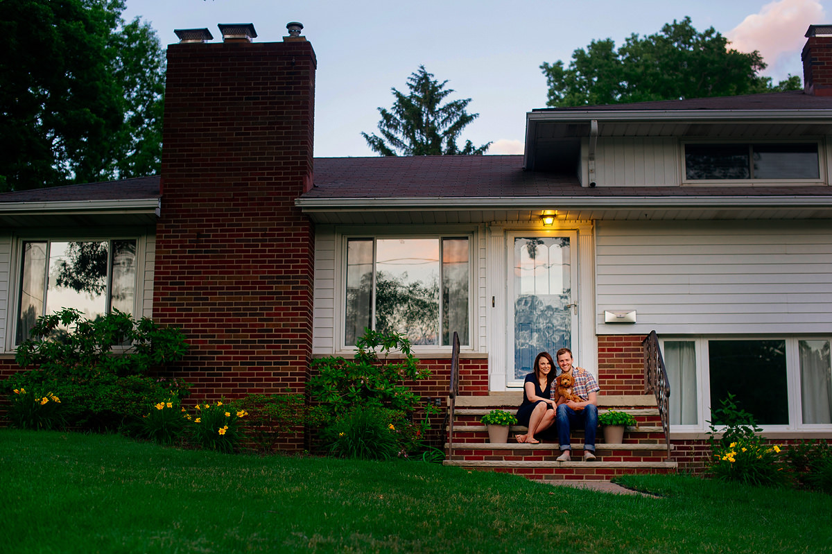 family portrait in front of home by wv photographers the oberports