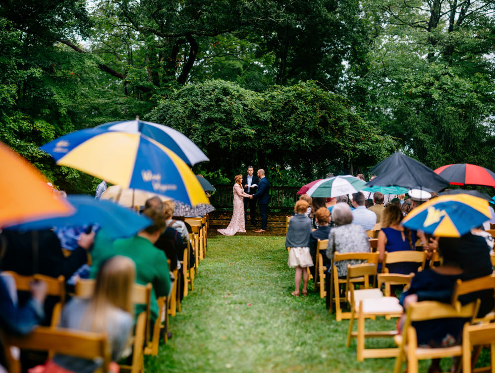rainy wedding ceremony brenizer method benedict haid charleston wv photographers the oberports