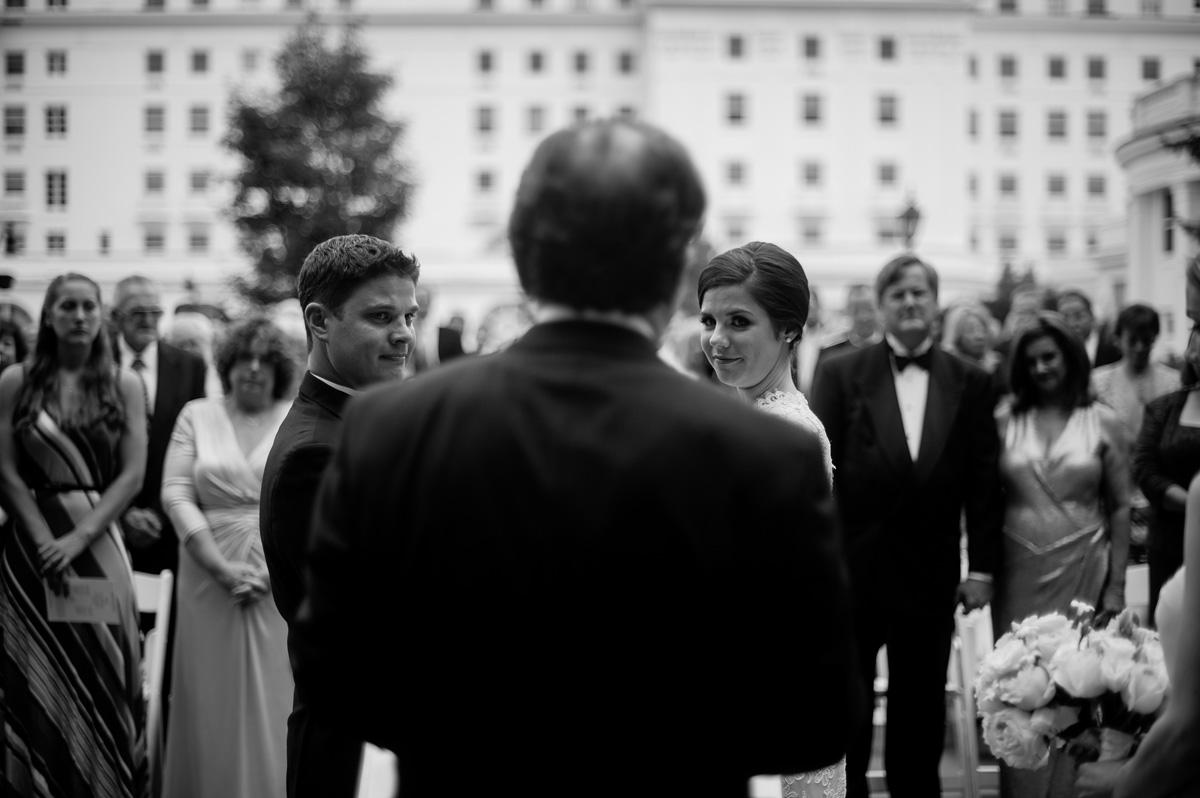 wedding ceremony at the greenbrier resort west virginia