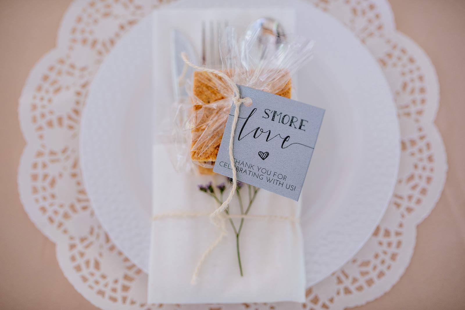 wedding favors smores