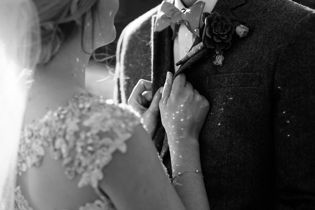 wv winter wedding magical detail