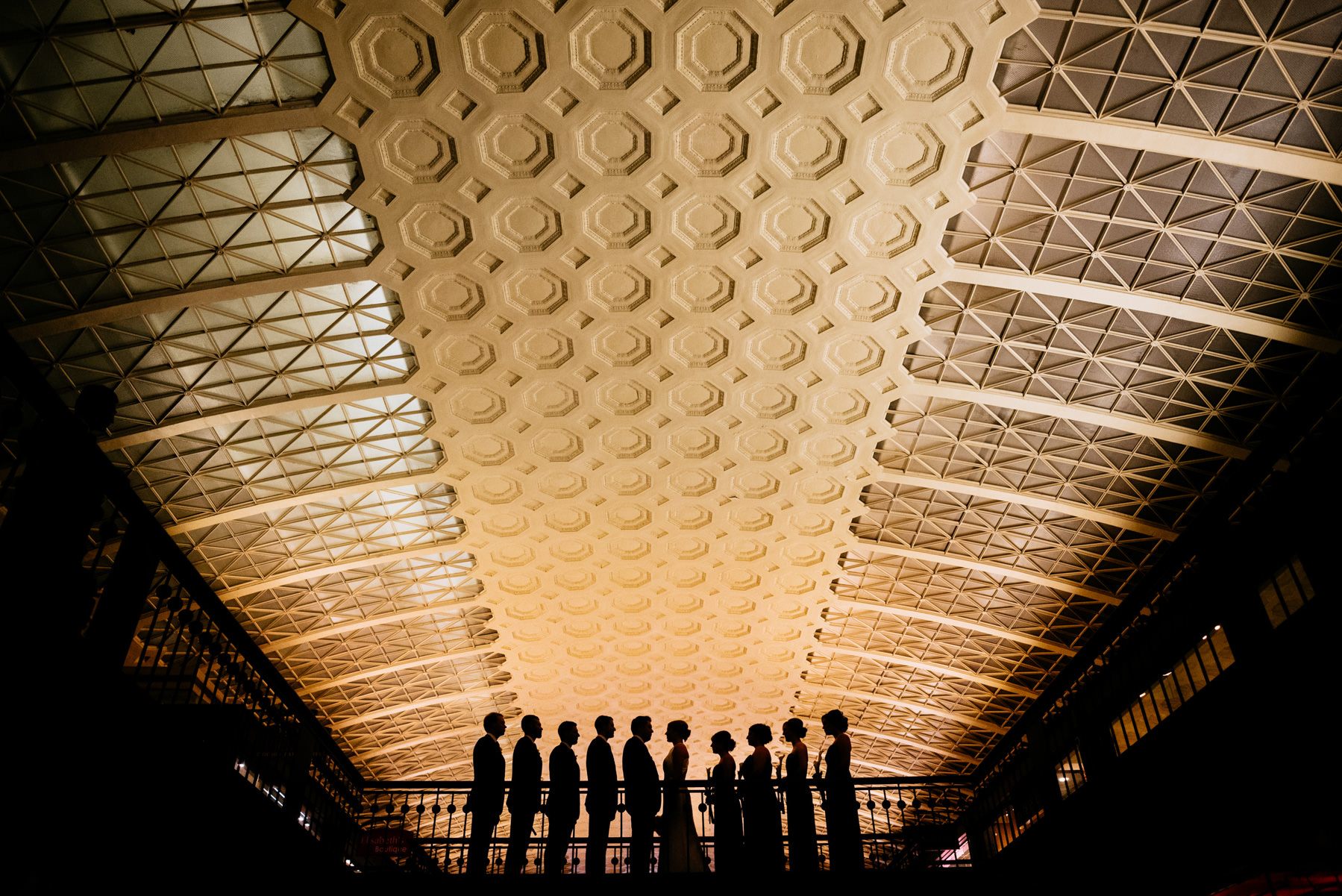 creative silhouette inside union station washington dc