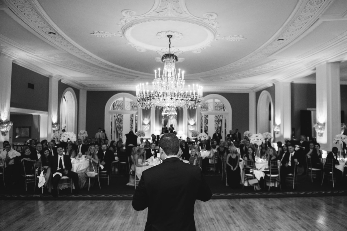 groomsmen toast photo in cameo ballroom greenbrier resort by wv photographers the oberports