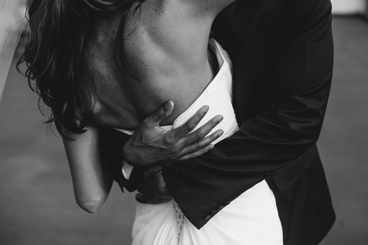 intimate first kiss wedding ceremony photos