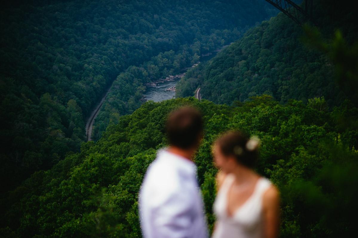 overlook new river wv wedding