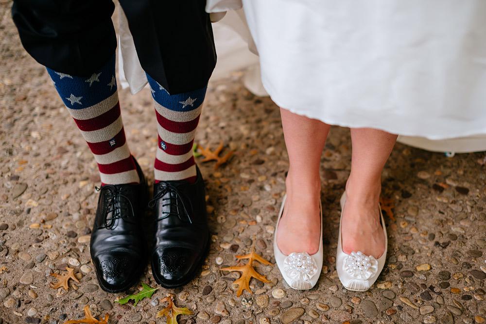 patriotic socks with kate spade bridal flats