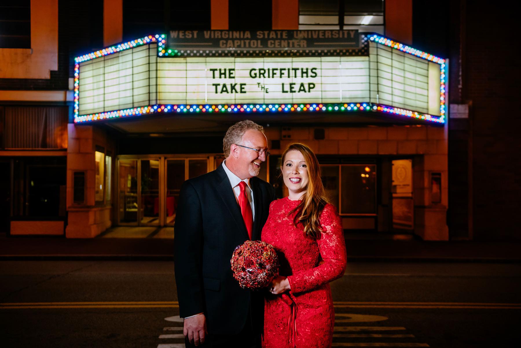 wedding in a movie theater charleston wv