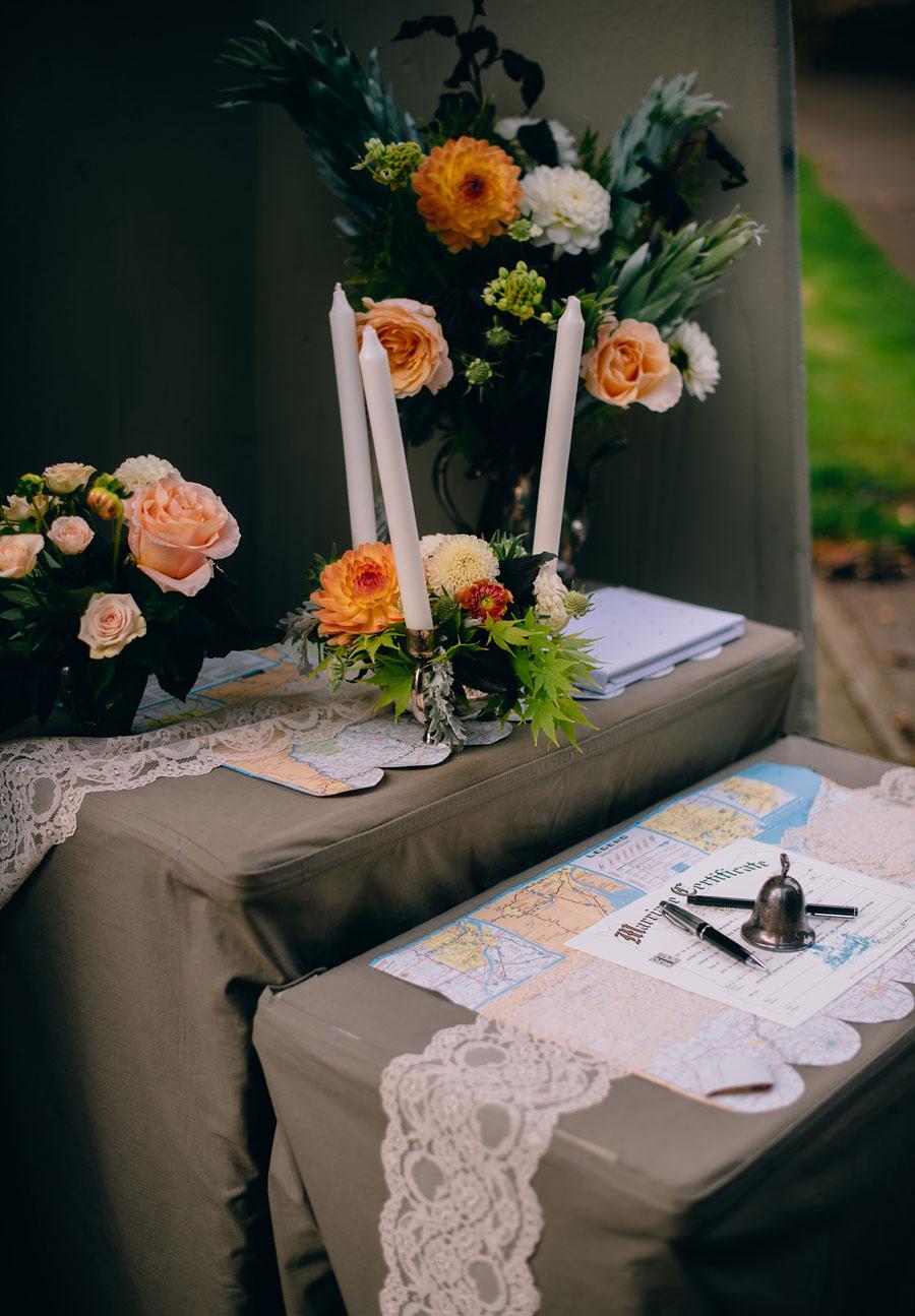 wedding inspiration flowers candles1