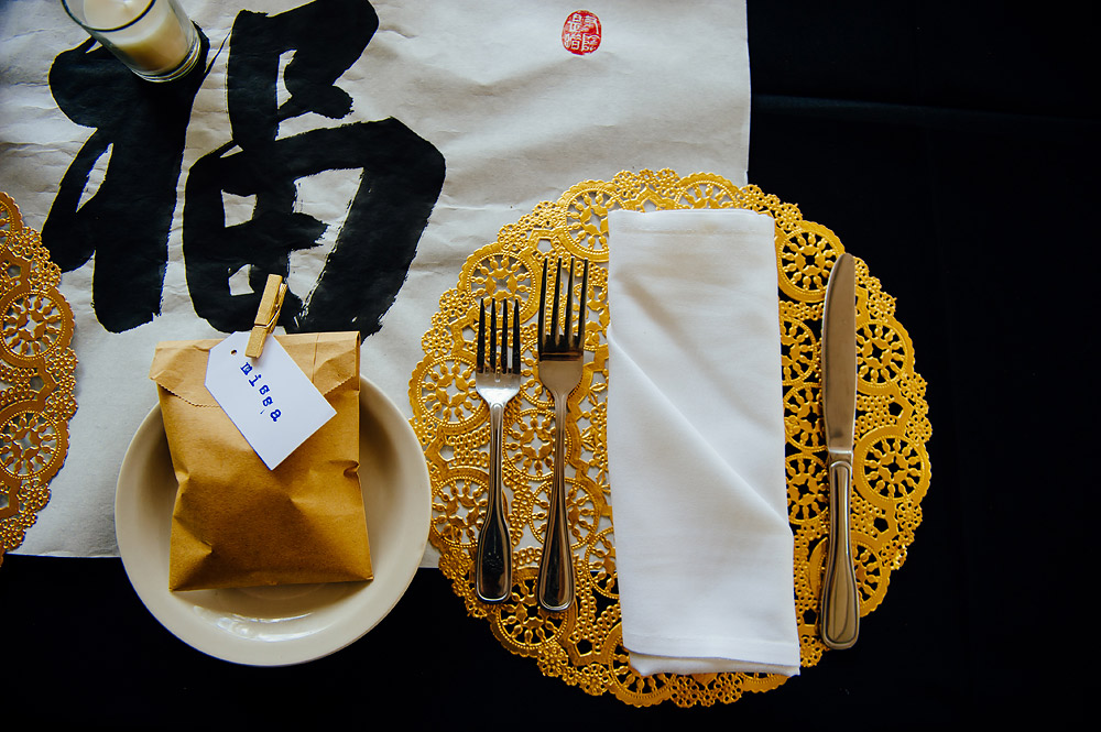 chinese themed wedding gold details