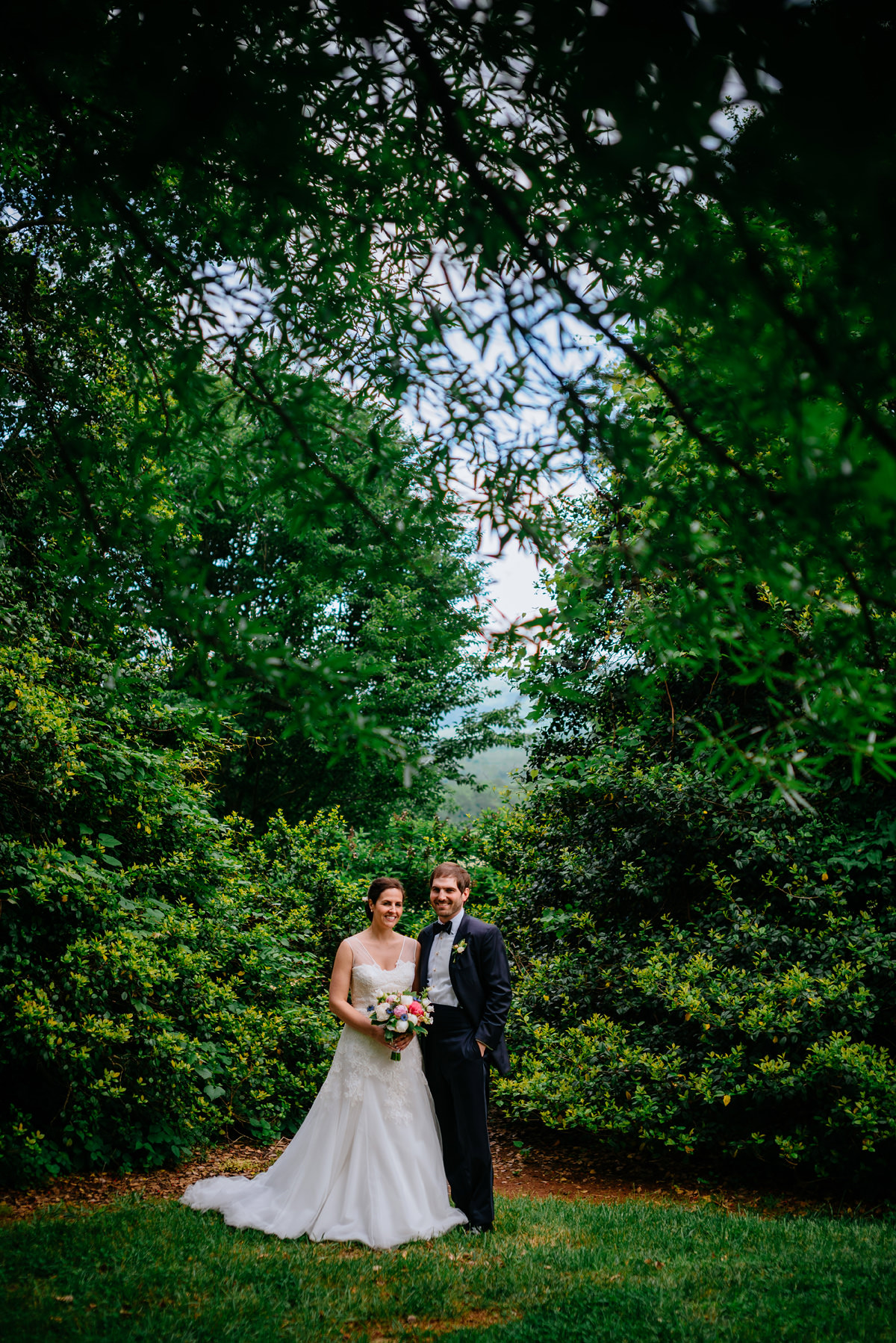 springtime virginia wedding bride and groom portrait 2