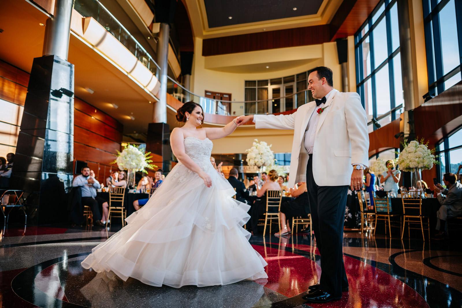 clay center wedding reception first dance