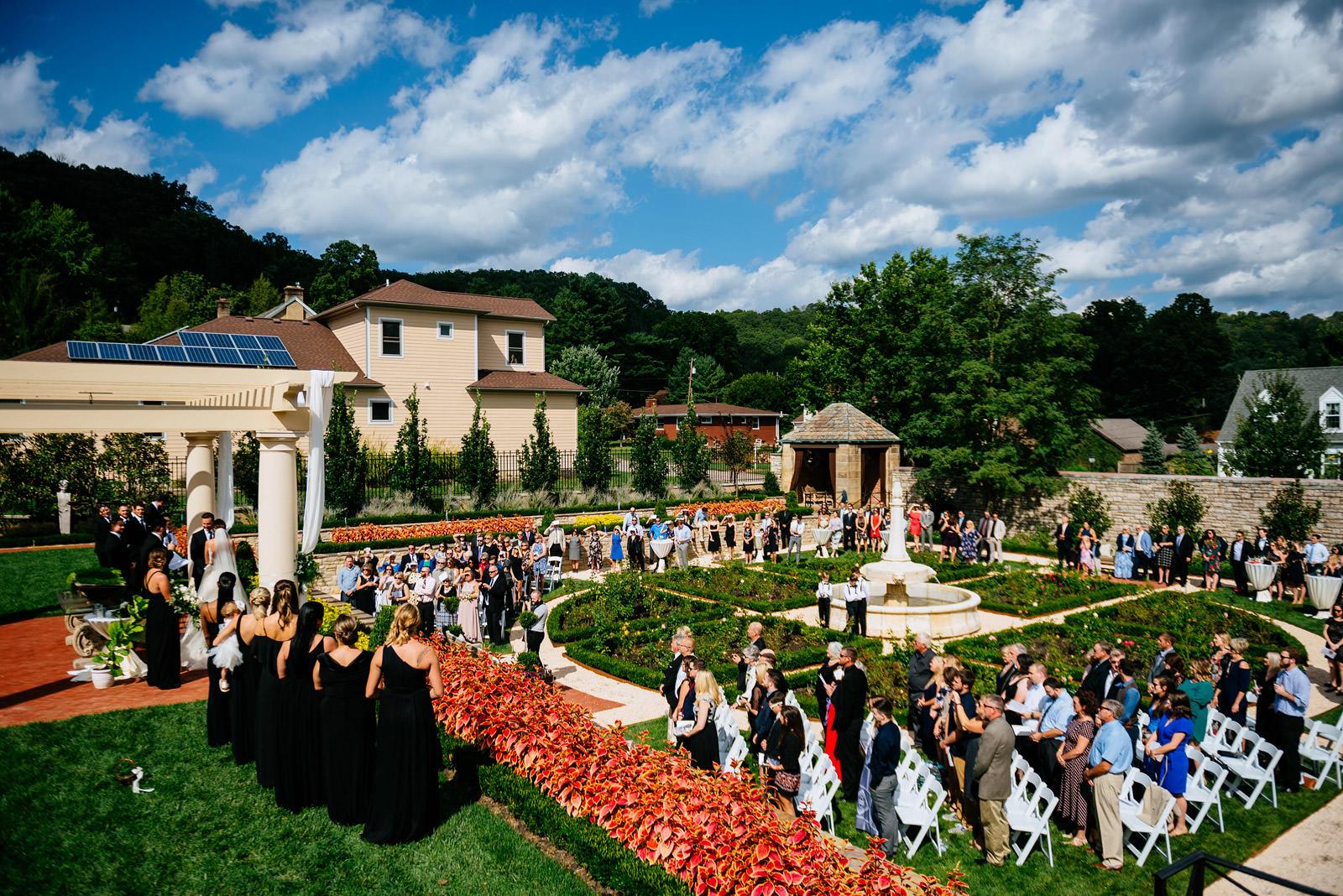 zenner house wedding ceremony athens ohio