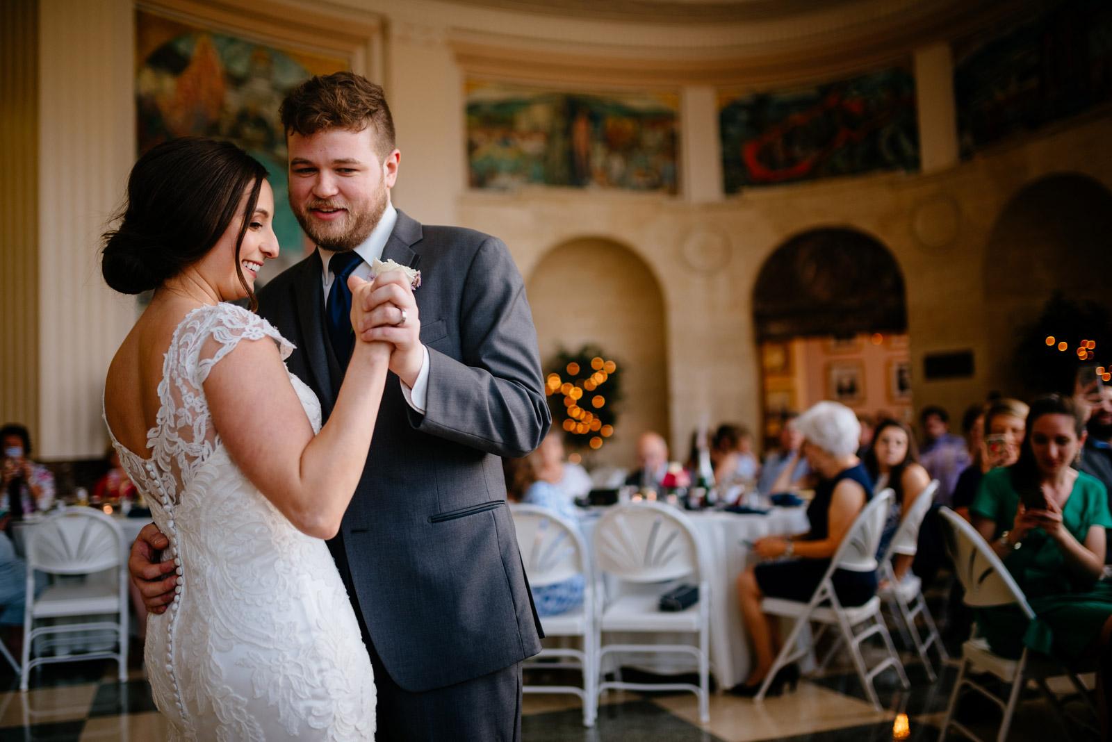 UC rotunda wedding reception first dance