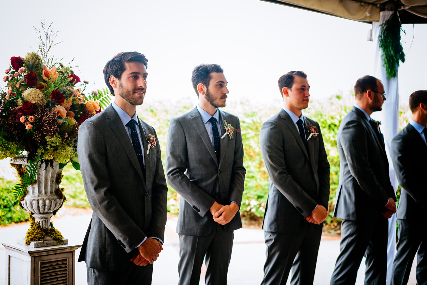 groom during wedding ceremony