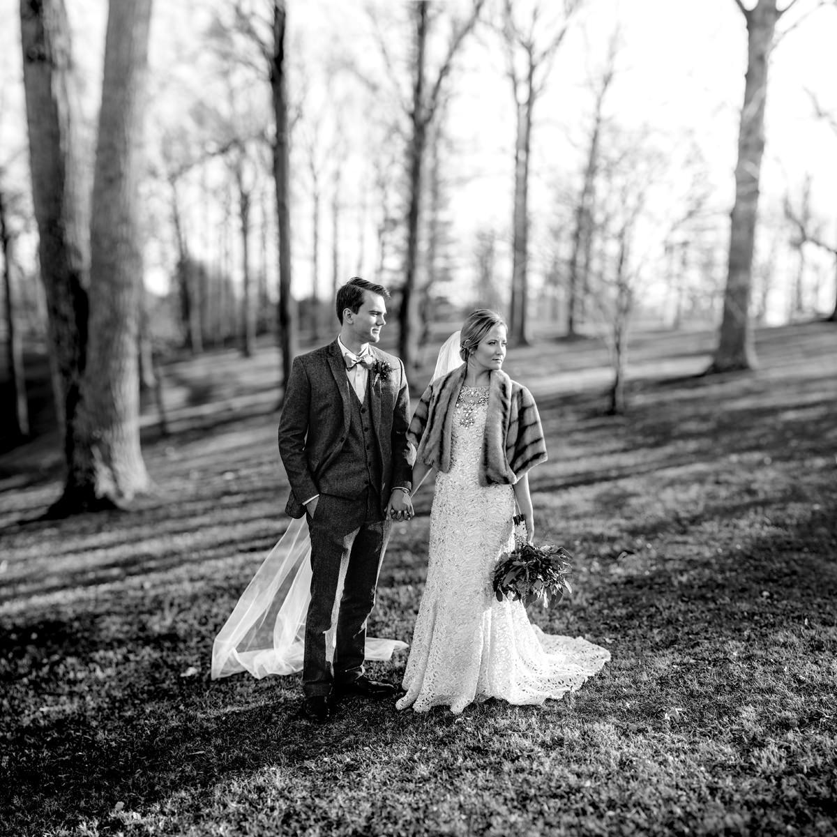 wv winter wedding huntington wv bokeh panorama brenizer method