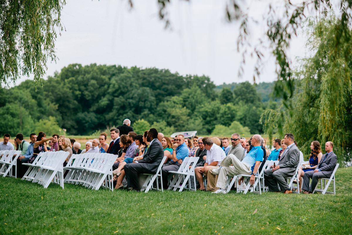 rustic acres pennsylvania wedding ceremony