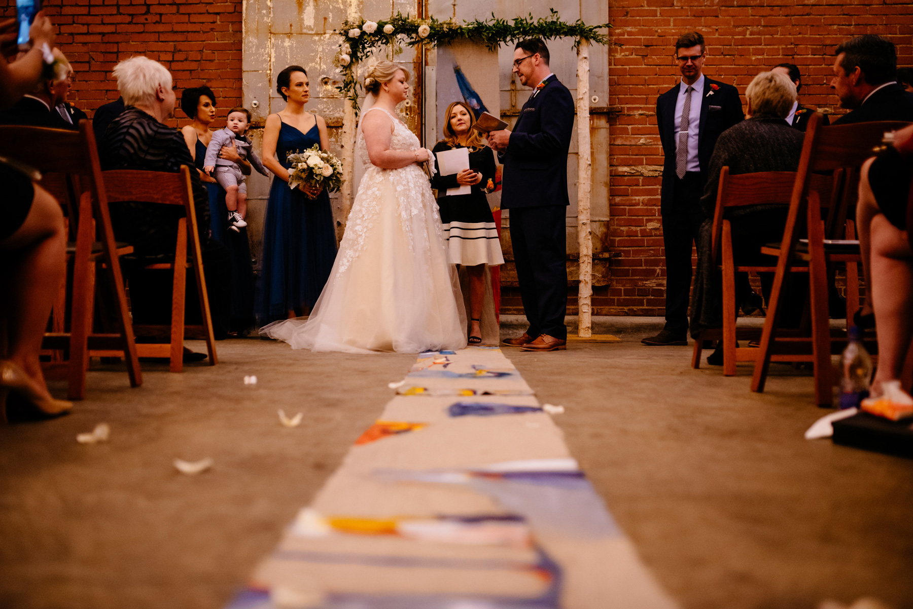 the cookery durham wedding ceremony outdoor