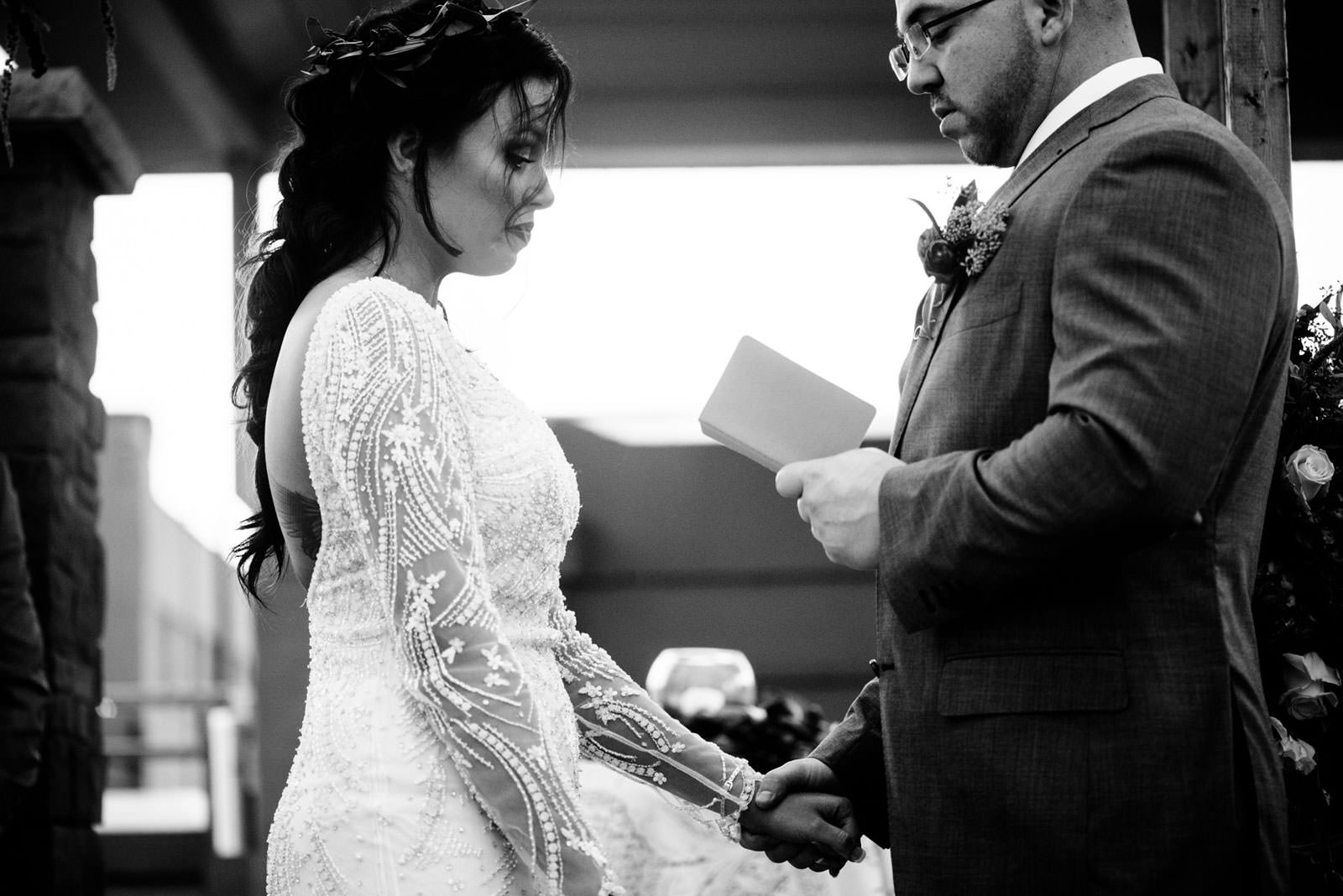 wedding ceremony vow exchange