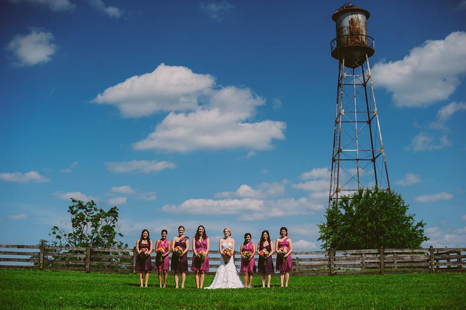 wedding photography bridesmaids in purple dresses