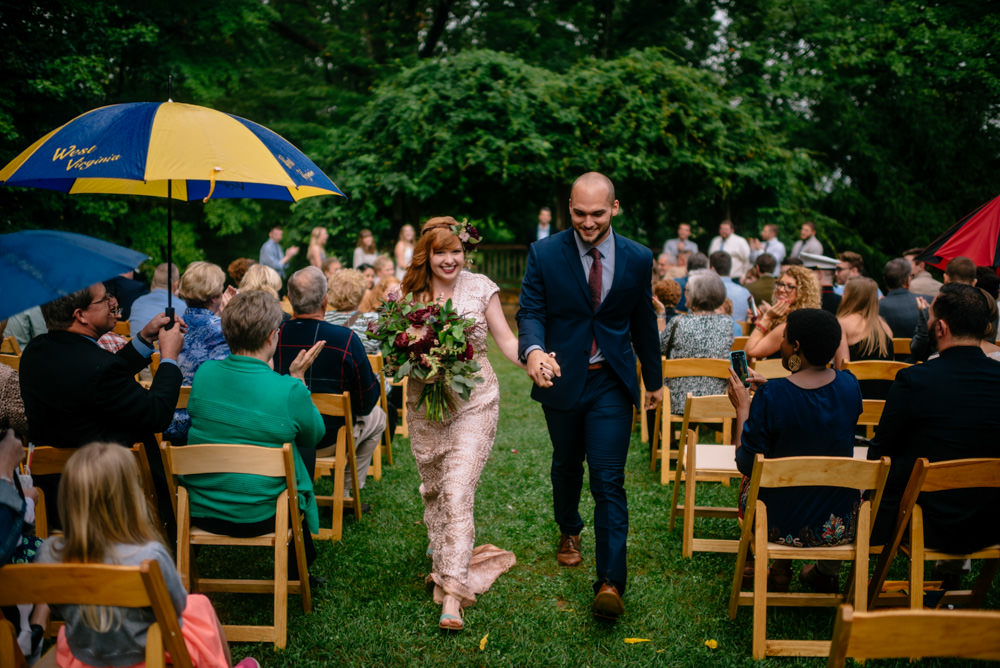 west virginia mountaineers umbrella benedict haid wedding by the oberports