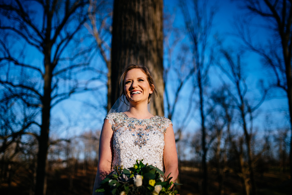 wv winter wedding bridal portrait huntington west virginia