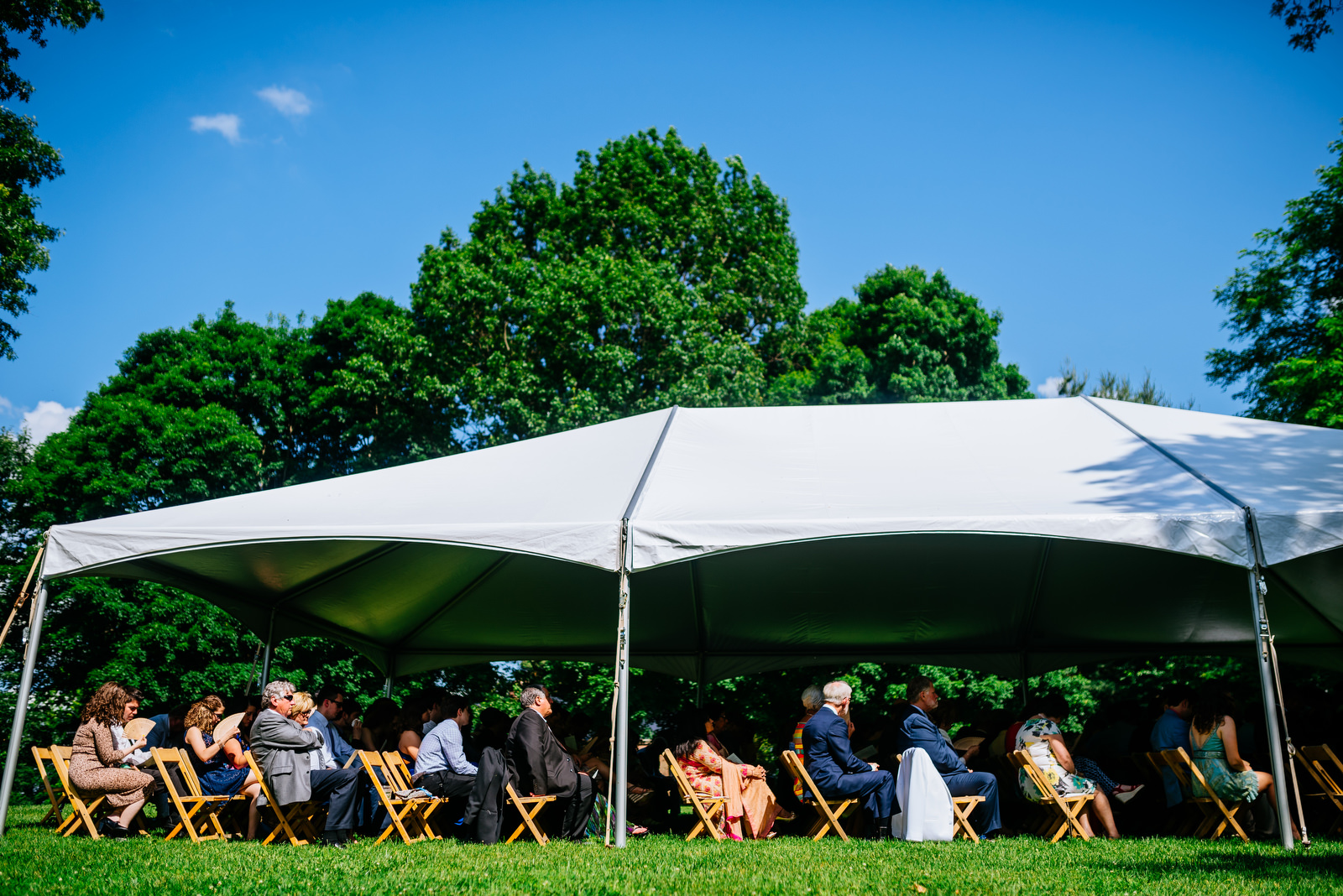 guests during ceremony holly hill inn wedding lexington kentucky