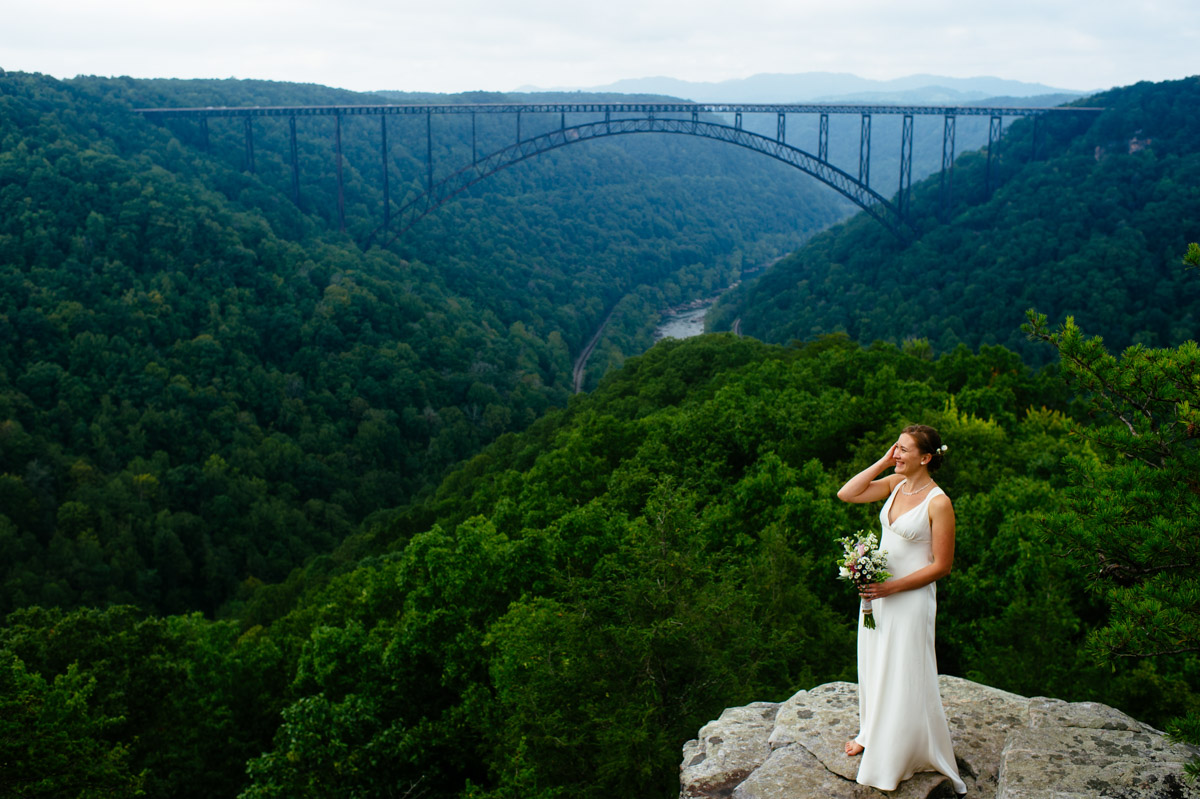 new river gorge bridal photo by west virgnia photographers the oberports